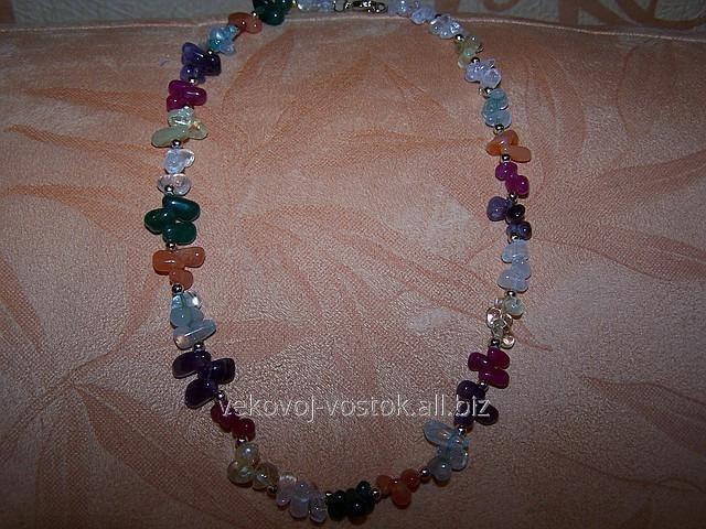 Ожерелье  из  натурального турмалина