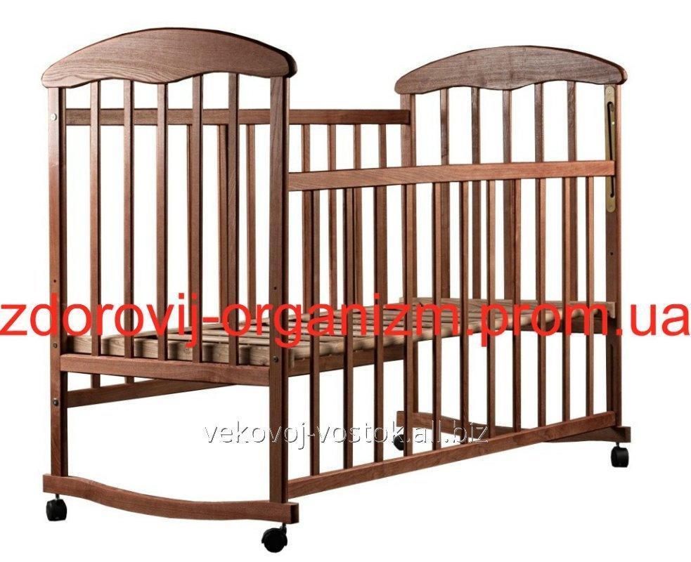 """Детская кроватка """"Наталка"""" (ясень тонированный)"""