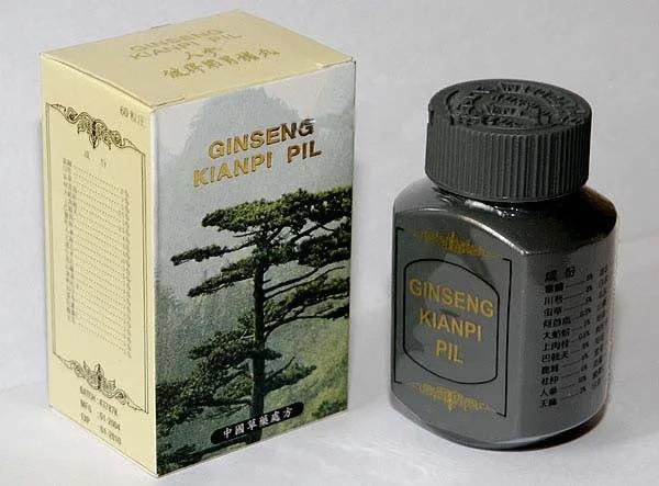 Ginseng Kianpi Pil Цзяньпи Кайи Капсулы Таблетки для набора мышечной массы тела и укрепления имунной системы