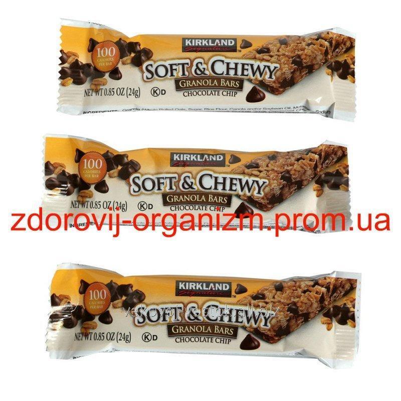 Жевательные батончики из мюсли  Kirkland  Chocolate Chip