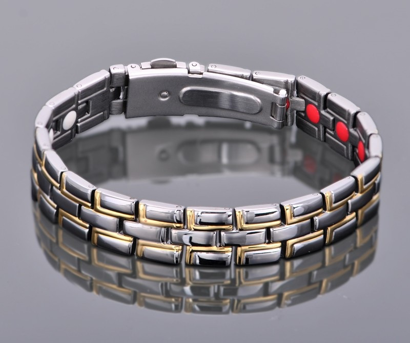 Титановый био магнитный турмалиновый браслет Принц