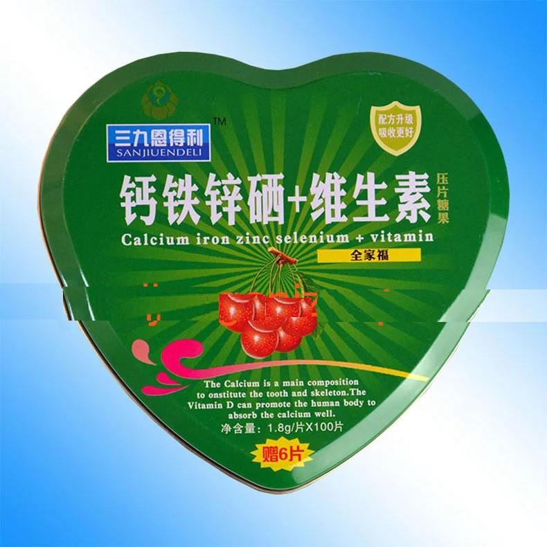 Купить Таблетки с кальцием, железом, селеном, цинком и витаминами 100 шт