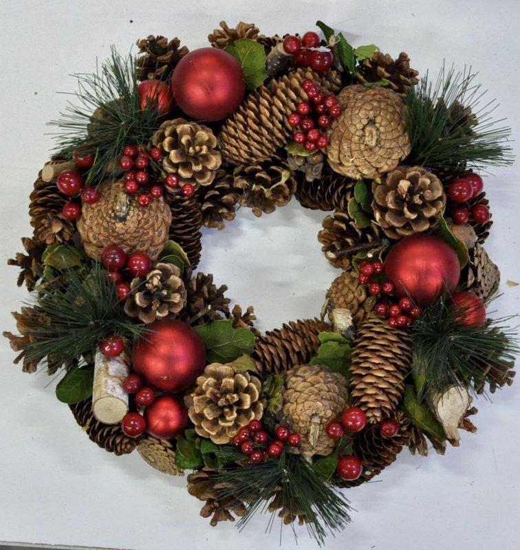 Гирлянда из хвои рождественская.Серебро. Декоративная.180см