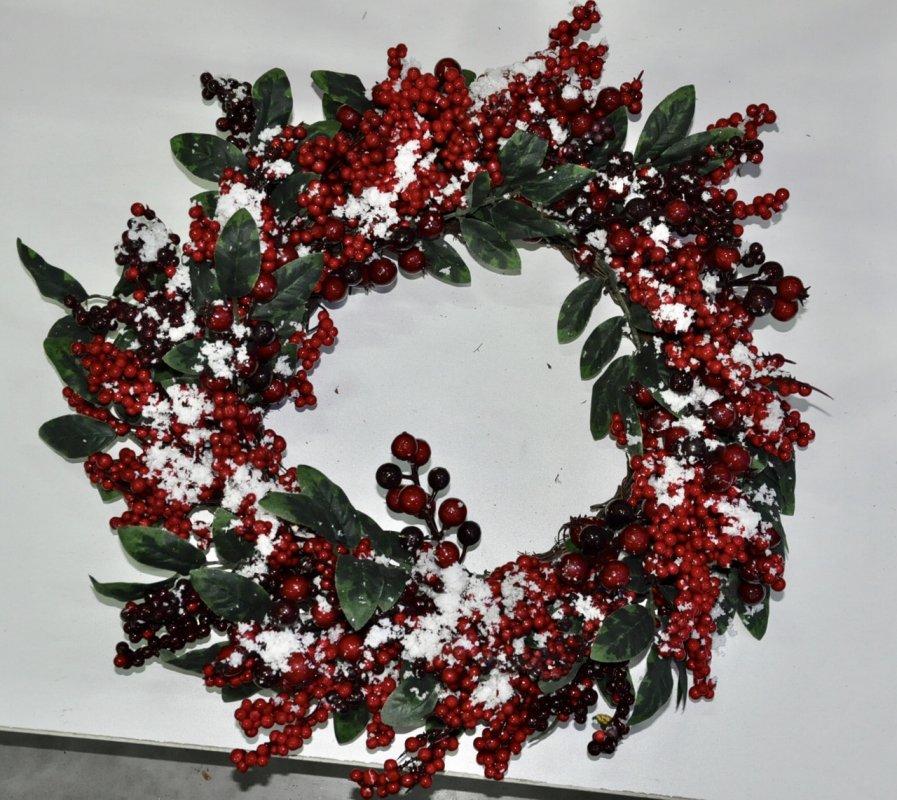 Гирлянда из хвои рождественская.Голубой декор.180см