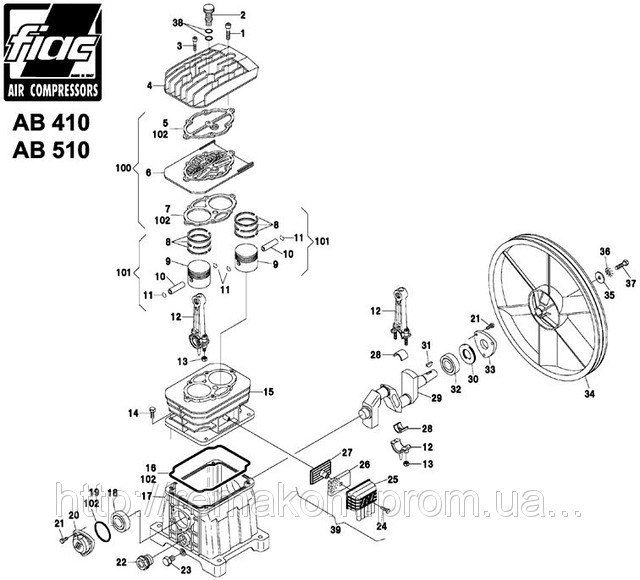 Spare Parts On The Piston Ab 510 Block Pump Ab510 Knot Detail