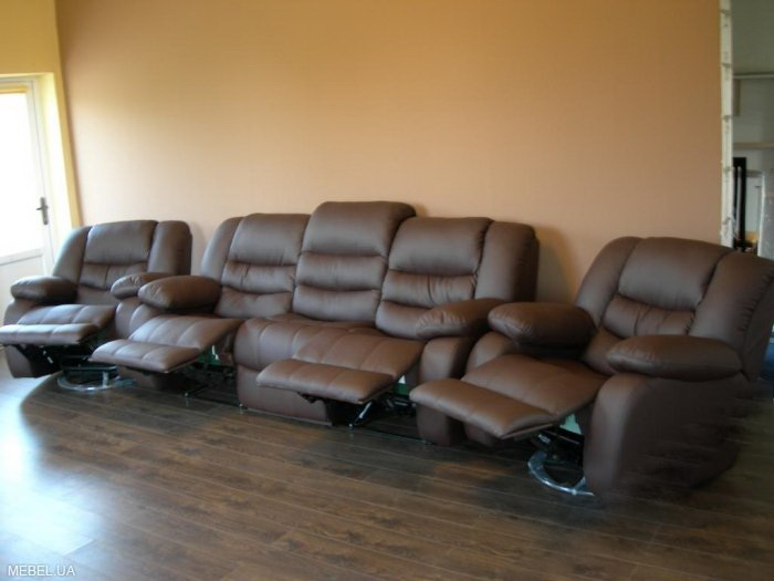 Купить Кожаная мебель реклайнер, мягкий диван релакс
