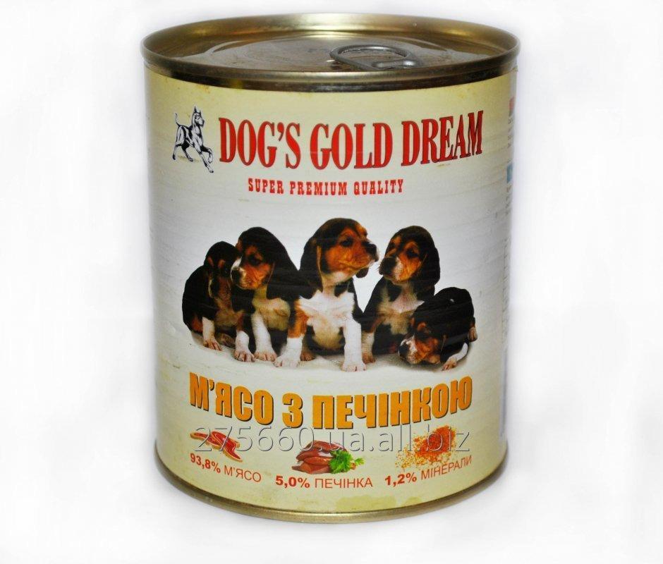 Купить Корм для собак DOG'S GOLD DREAM Мясо с печенью