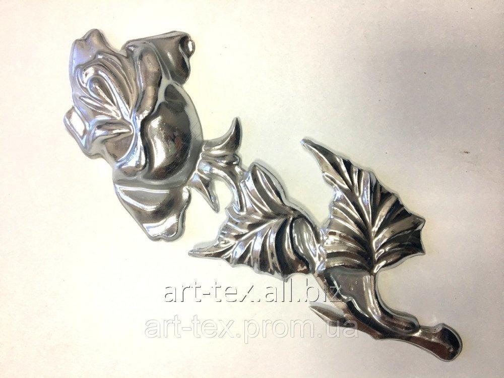 Роза 6.08 225*90мм серебро