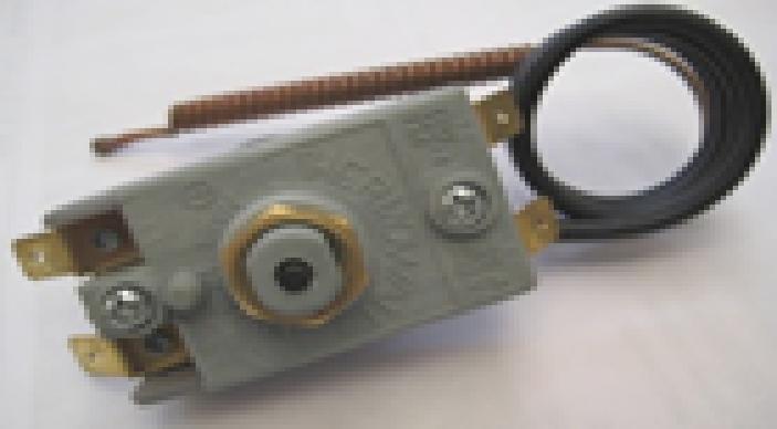 Купить Термостат защитный капилярный, с кнопкой, 90*С, 16А. Italy, 1410 TW
