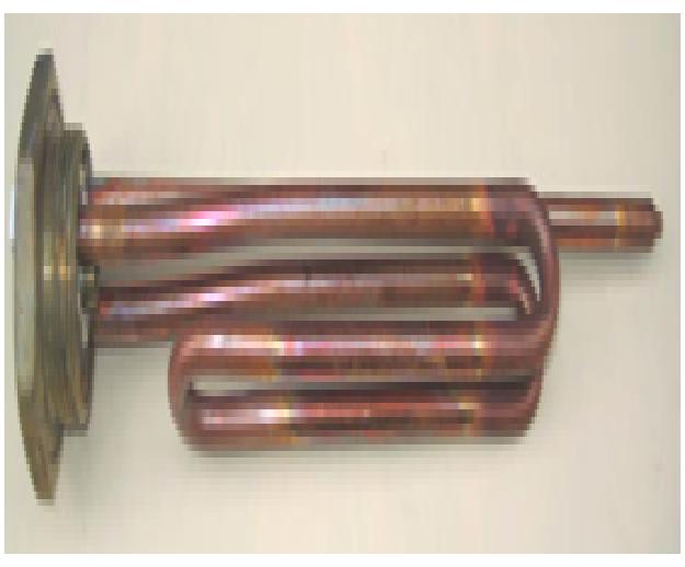 """Купить Тен 2000 W фланец с резьбой G 1 ¼ """", резьба под анод М6. , 2000 TW"""