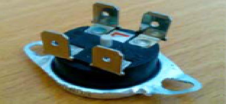 Купить Термостат защитный 78*С (или 93*С) 4кБП таблетка с кнопкой KSD302 15А 250В, R-06