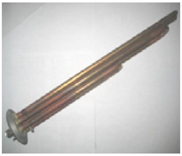 Купить ТЕН 2500 W (1000+1500), фланец d63, резьба под анод М4, медь. TW Італія, М631510 TW