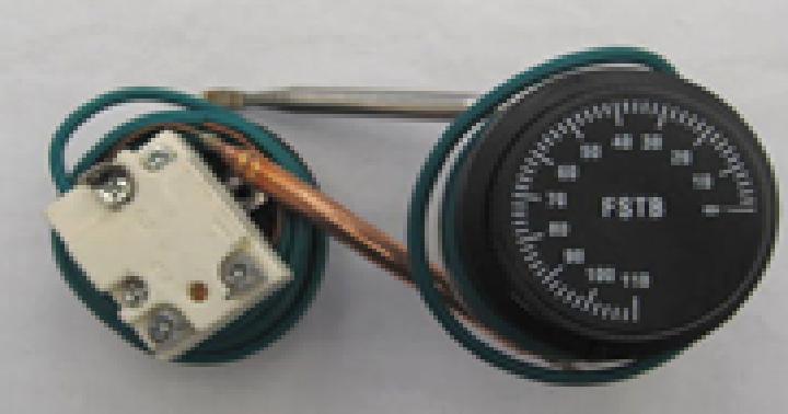 Купить Терморегулятор капилярный, 30-75*С, 16А, с ручкой. Турция, FSTB 75 SNL