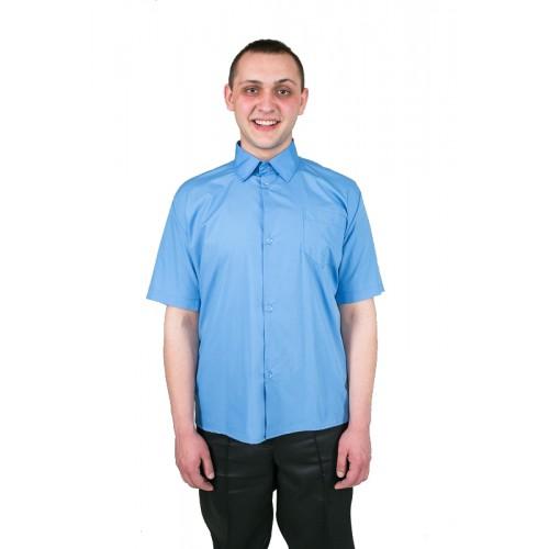 Рубашка голубая с коротким рукавом арт.: 155