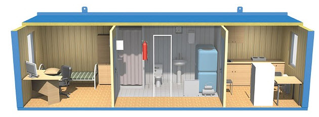 Modular cabins showers