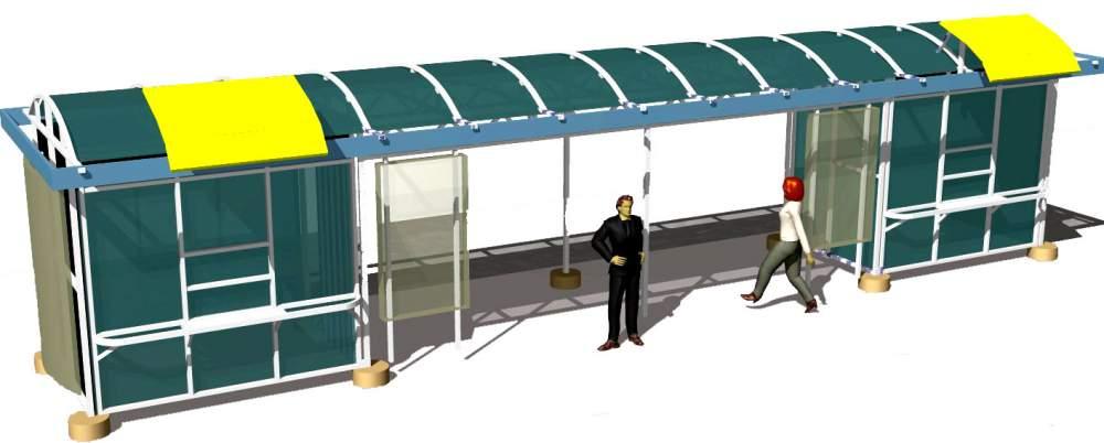 Paviljonger stations-