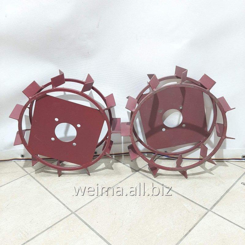 Купить Колеса с грунтозацепами 380/120(квадрат 10*10) культиватор
