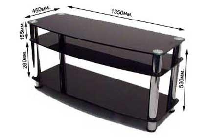 Столик для телевизора стеклянную