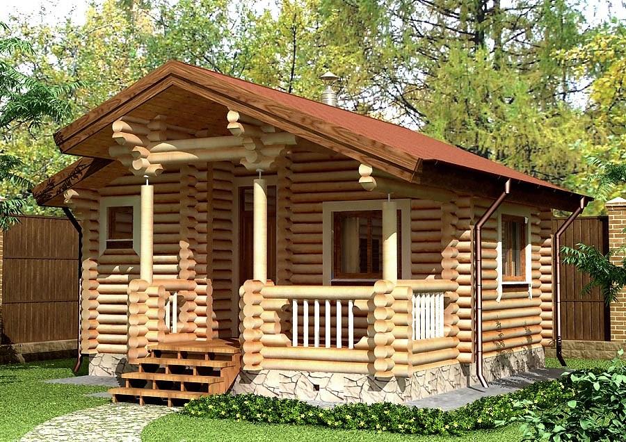 Купить Дом из оцилиндрованного бревна 6а