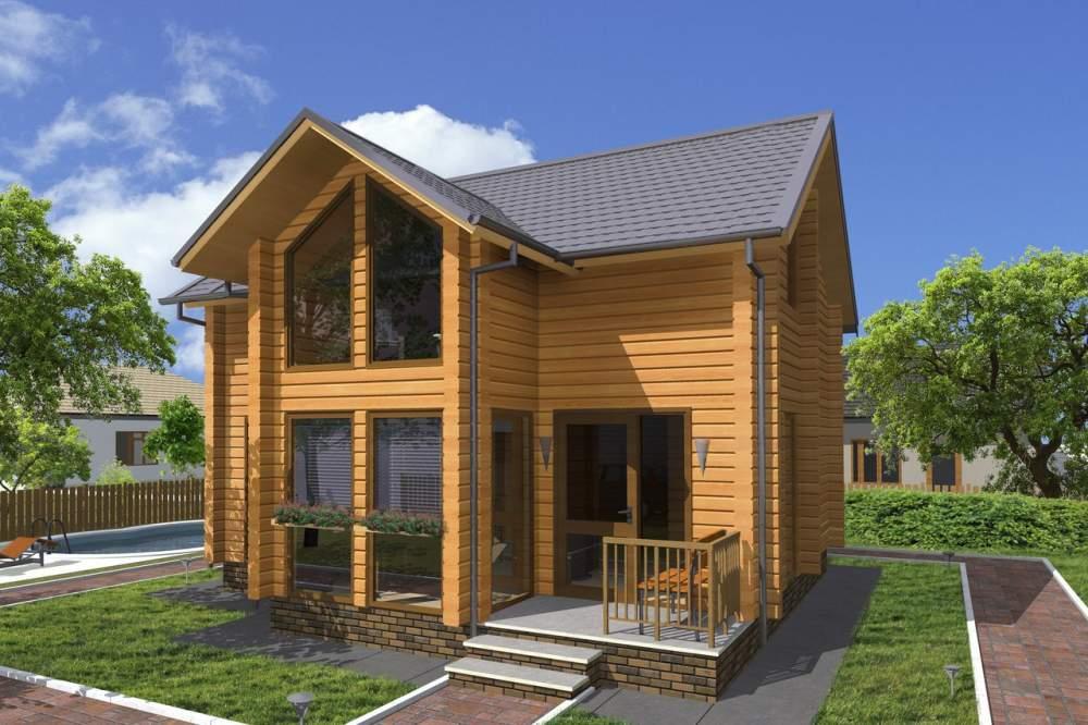 Купить Дом из оцилиндрованного бревна 40