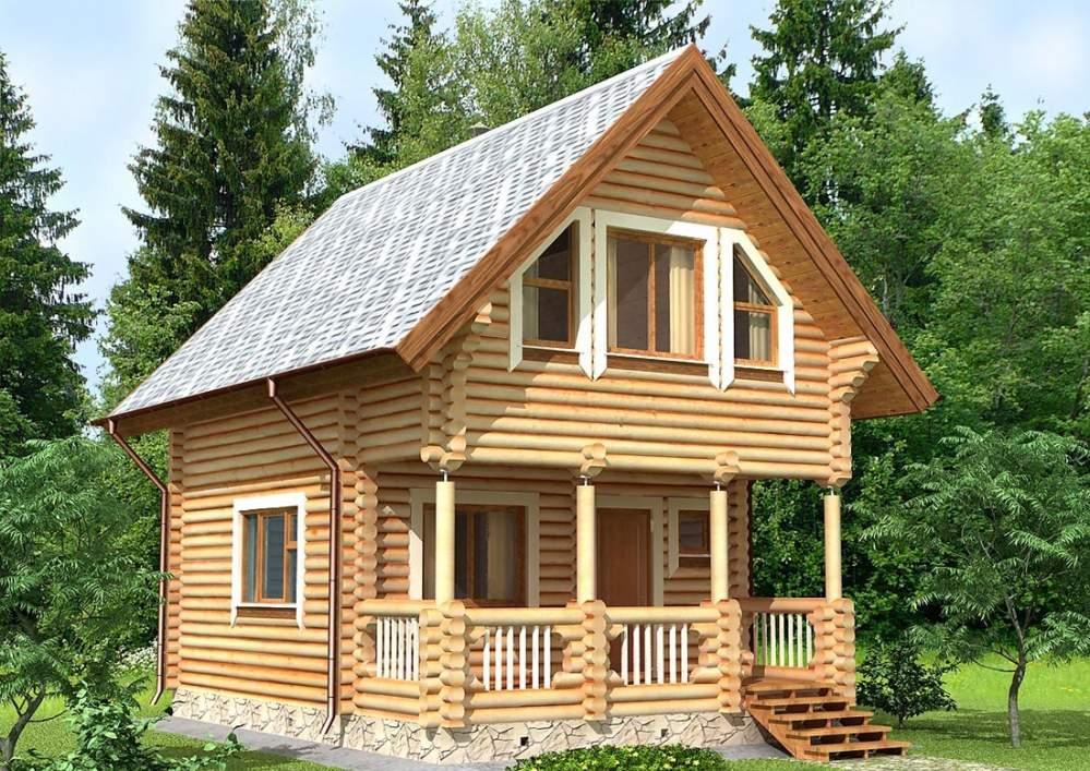 Дом из оцилиндрованного бревна 33
