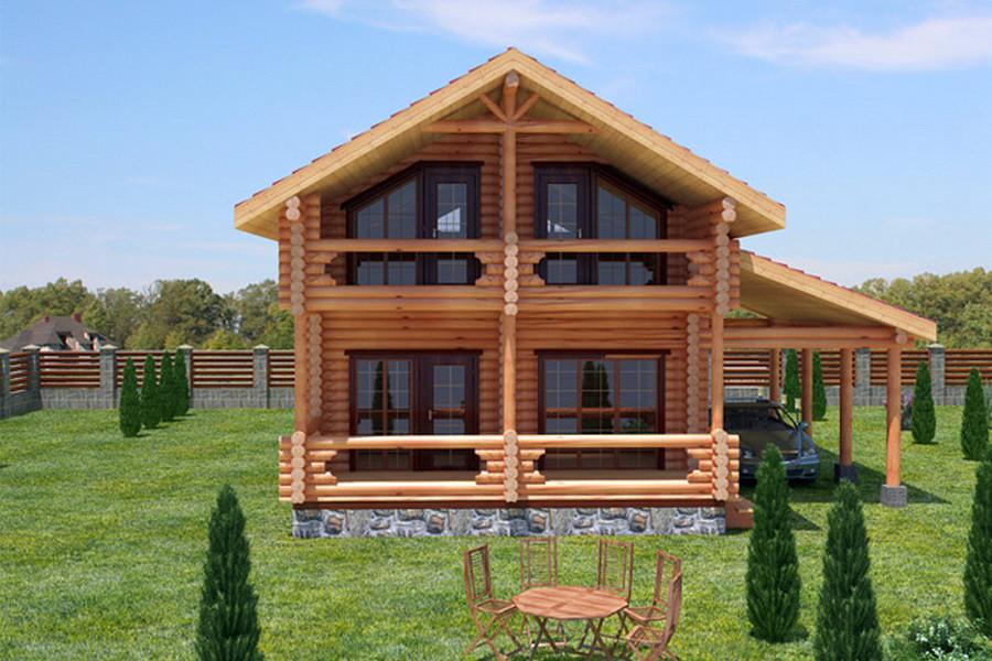 Купить Дом из оцилиндрованного бревна 5