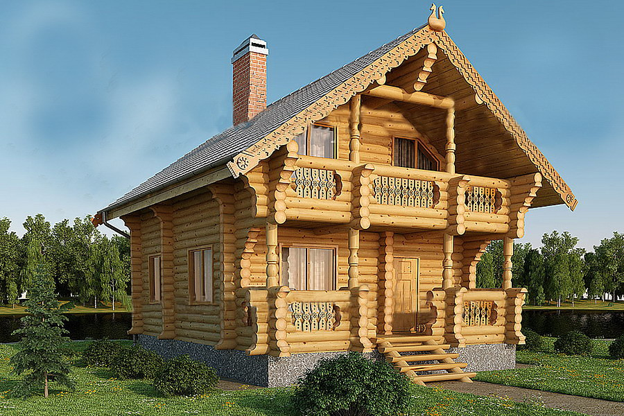 Купить Дом из оцилиндрованного бревна 7