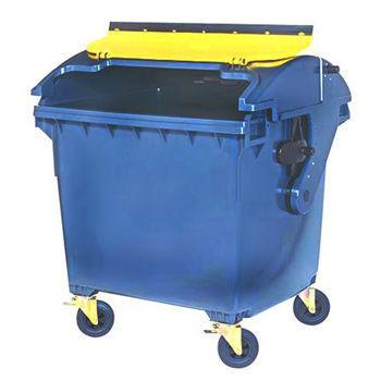 4х-колесный контейнер 1100л металлический крашенный (эмаль)