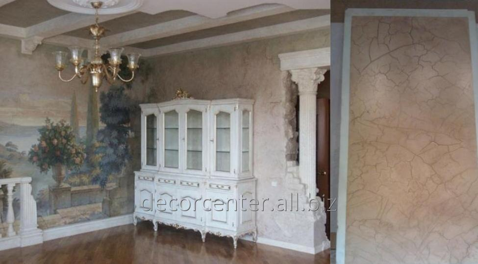 Decorative plaster. Walls, ceilings, arches, niches, colons ...