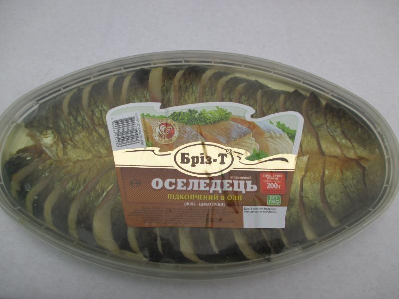 Сельдь подкопченная в масле (филе-кусочки) 200 г