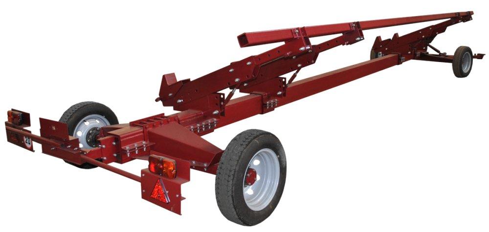Двухосная универсальная тележка для зерновых и кукурузных жаток