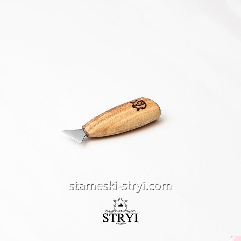 Нож прорезной для геометрической резьбы по дереву АЮ-STRYI, 25 мм, арт.90025