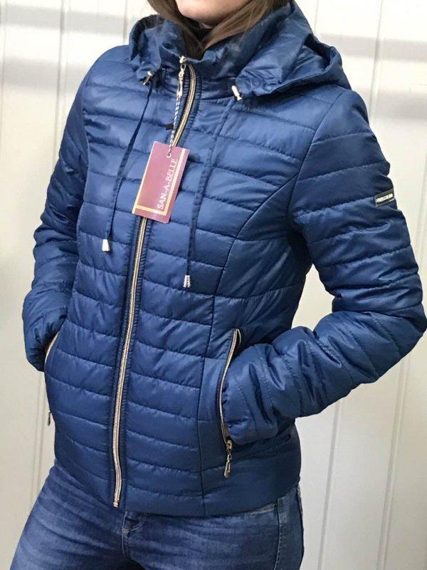 Куртка женская весенняя, модель Д2, цвет синий.