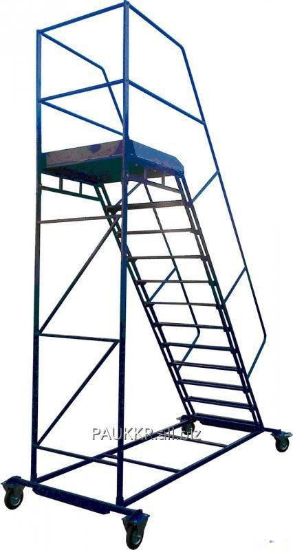 Лестница складская передвижная стальная. Высота 1000 мм