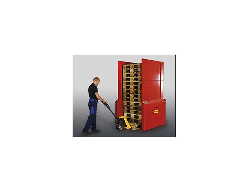 Купить Механизм замены поддона, использующий технологию поворота груза на 180°