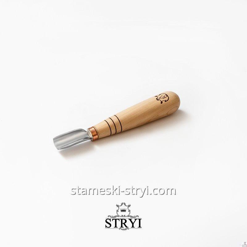 Стамеска полукруглый коротыш для геометрической резьбы по дереву, ровная кромка, 15 мм, арт.90915