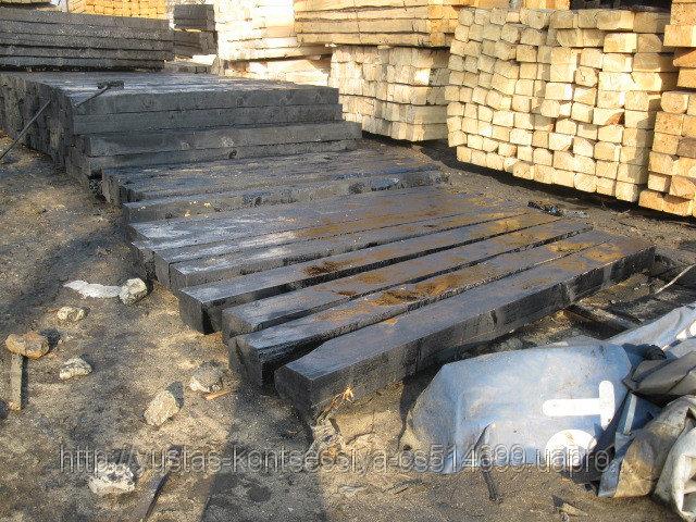 Купить Брус деревянный пропитанный для стрелочных переводов Р-65 тип 1-А