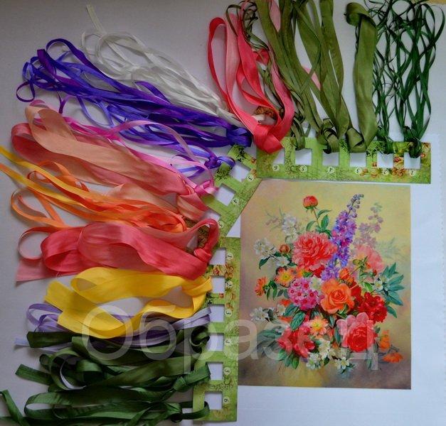 Купить картинки для вышивки лентами