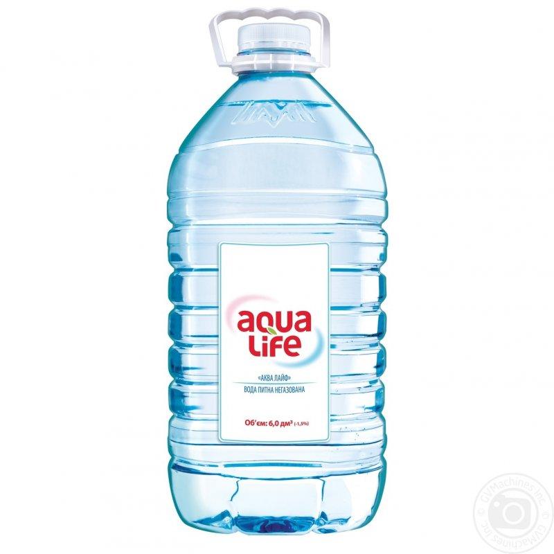 Вода Аква Лайф негазированная пластиковая бутылка 6000мл