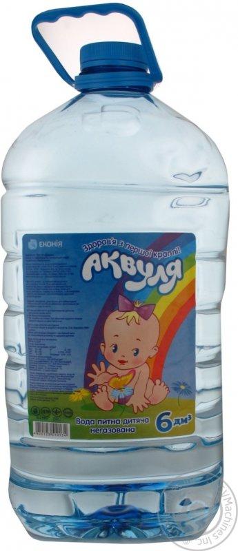 Купить Вода Аквуля негазированная пластиковая бутылка 6000мл Украина
