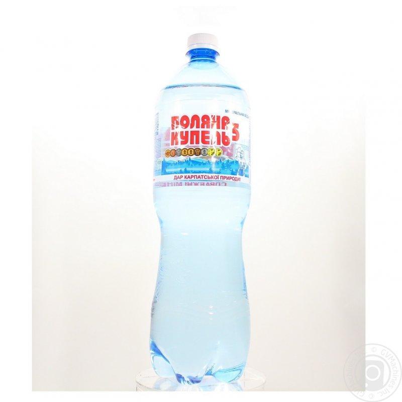 Вода Поляна Купель газированная лечебно-столовая пластиковая бутылка 1500мл Украина