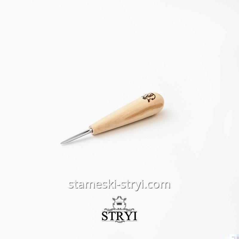 Полукруглый коротыш со скошенной кромкой для резьбы по дереву, 2 мм, арт.91902