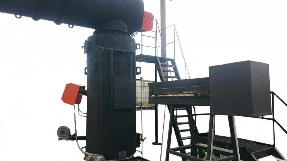 Утилизизатор термический УТ500 для сжигание пера и нагрева воды