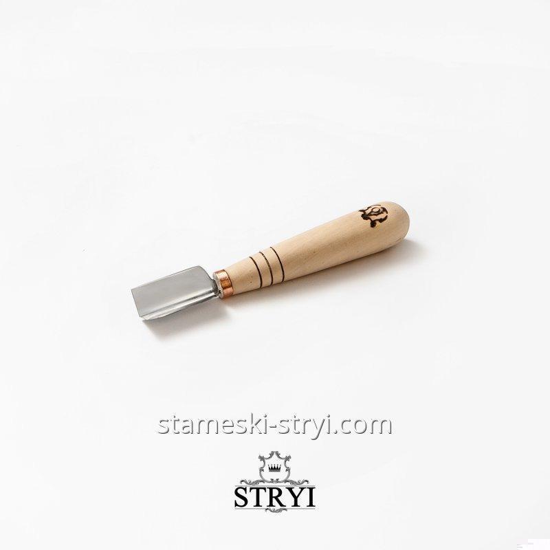 Угловой коротыш  с ровной заточкой для геометрической резьбы по дереву, 15 мм, арт.399015
