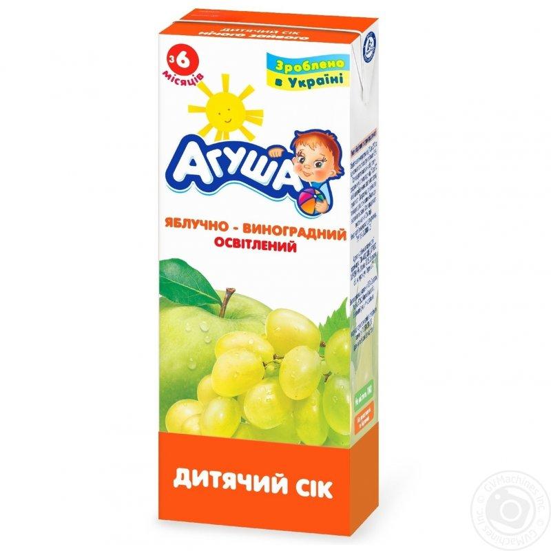 Агуша сок 0,2л яблоко-виноград