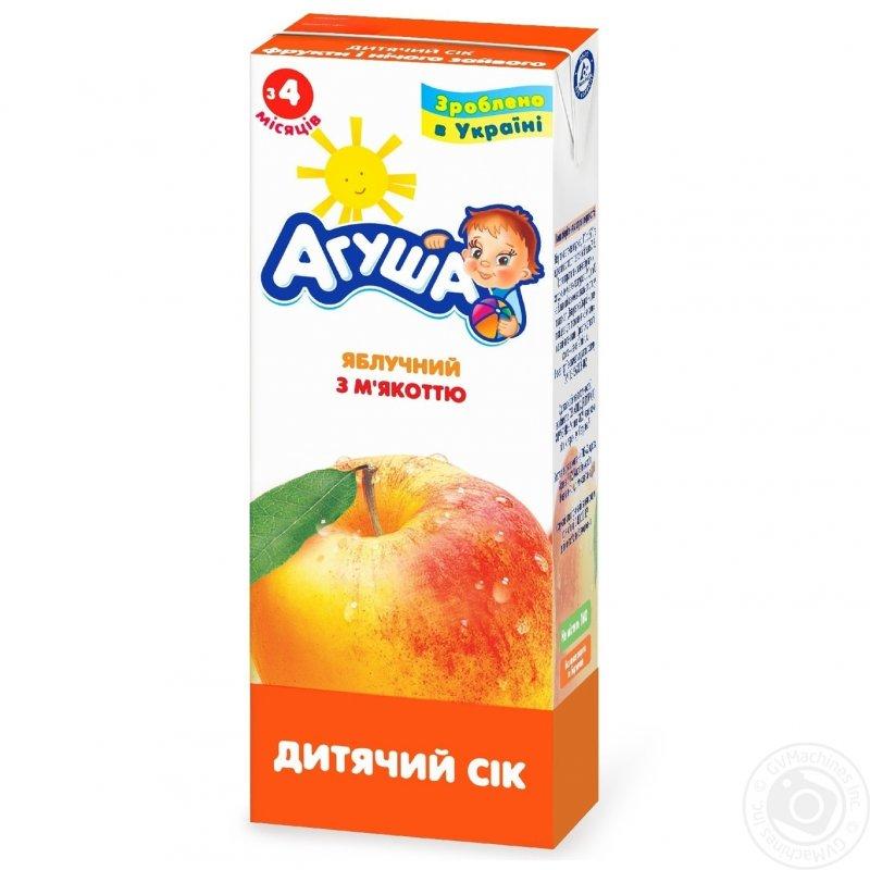 Агуша сок с мякотью 0,2л яблоко