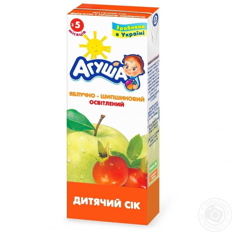 Агуша сок 0,2л яблоко-шиповник
