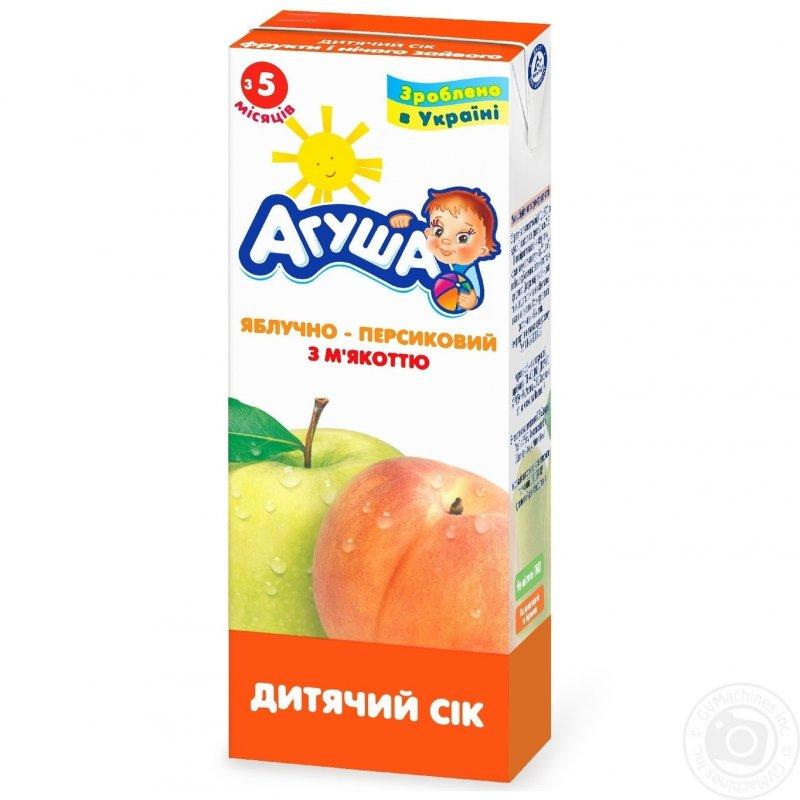 Агуша сок 0,2л яблоко-персик