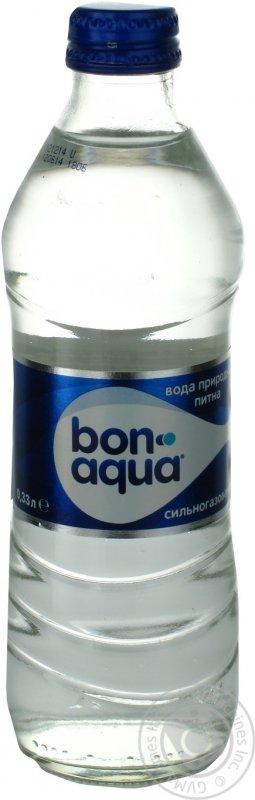 Вода Бонаква сильногазированная стеклянная бутылка 330мл Украина