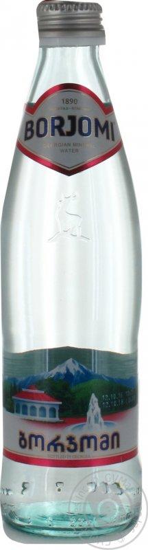 Вода Боржоми сильногазированная лечебно-столовая стекляная бутылка 330мл